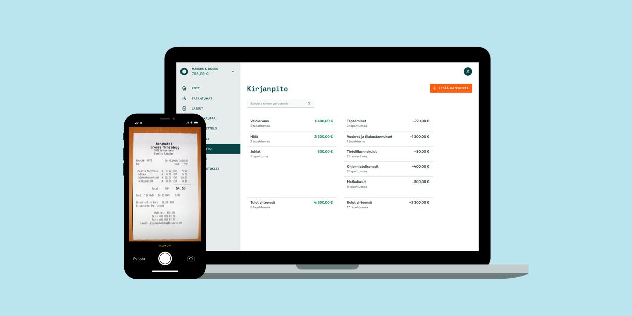 Holvi Bookkeeper – toiminimen kirjanpito edullisesti ja helposti